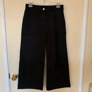 Black Everlane Wide Leg Crop Pants Size 2